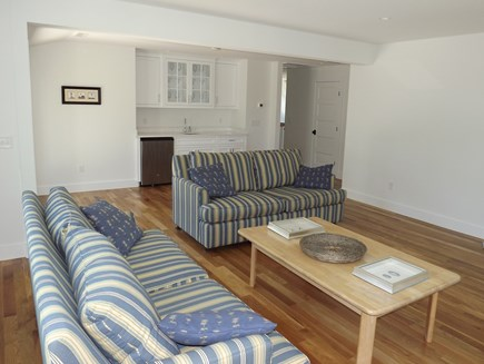 Chatham Cape Cod vacation rental - Second Floor Living Area With TV, Bar Leading to the Upper Deck.
