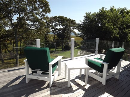 Chatham Cape Cod vacation rental - Upper Deck With Views of Salt Marsh and Nantucket Sound Beyond.