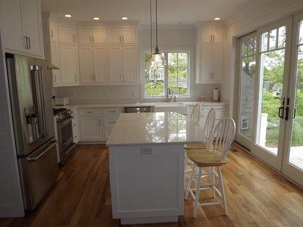 Chatham Cape Cod vacation rental - Kitchen With Island and Gleaming Granite Countertops.