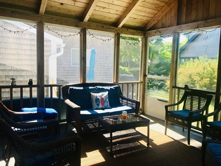 Harwich Port Cape Cod vacation rental - Comfortable Screened Porch