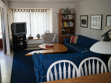 Truro Cape Cod vacation rental - Living room with TV and comfortable furniture