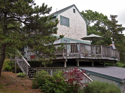 Truro Cape Cod vacation rental - House from ground level