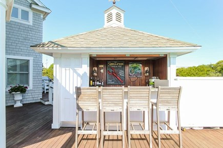 West Yarmouth Cape Cod vacation rental - Poolside bar (with full bath behind)