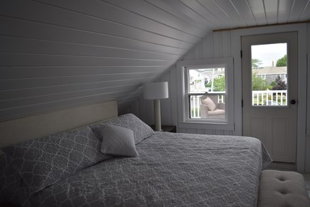 West Yarmouth Cape Cod vacation rental - 3rd floor king bedroom with private deck
