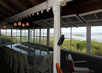 Brewster Cape Cod vacation rental - Dining Area/porch- Water views!!