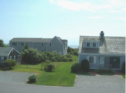 West Yarmouth Cape Cod vacation rental - Peek of the ocean from master bedroom deck