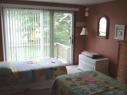 West Yarmouth Cape Cod vacation rental - 1st floor - 2 twin beds with sliders to deck