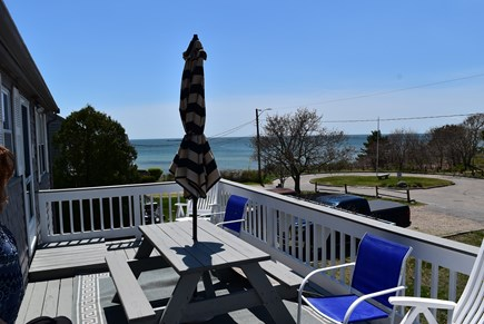 Hyannis Cape Cod vacation rental - Beautiful view of the ocean from the large deck