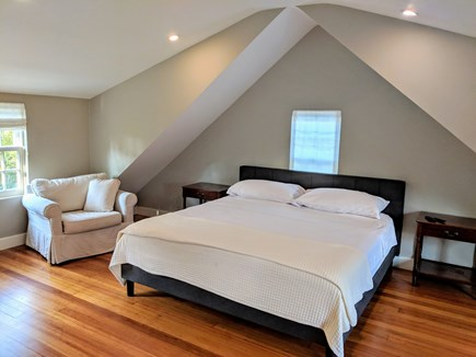 East Dennis Cape Cod vacation rental - Bedroom with king bed and bath