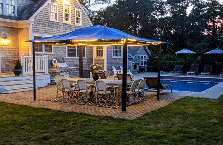 East Dennis Cape Cod vacation rental - Gazebo and table for 12