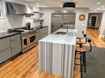 East Dennis Cape Cod vacation rental - Chef's Kitchen- 3 ovens, 2 dw, 60 inch refrig, 6 burner stove