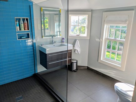 East Dennis Cape Cod vacation rental - Another sample Bathroom with glass tile shower