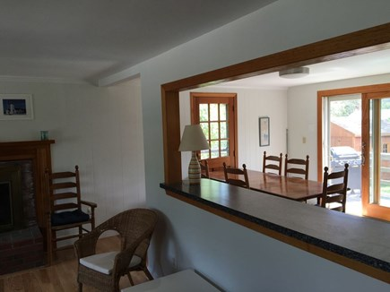Brewster Cape Cod vacation rental - Look from living area toward dining and kitchen