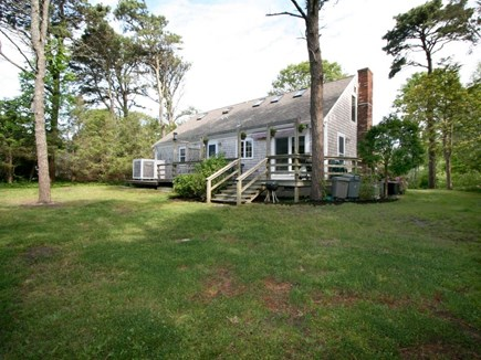 Brewster Cape Cod vacation rental - Back of home with deck and outdoor shower