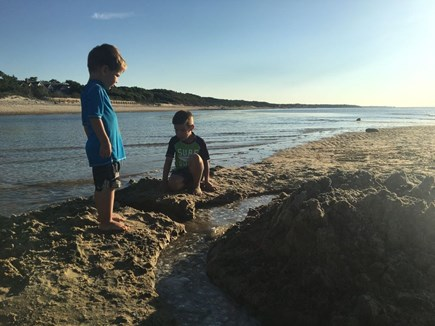 Brewster Cape Cod vacation rental - Playing in the sand :)