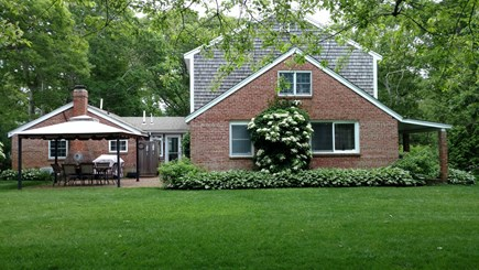Hyannis, Barnstable Cape Cod vacation rental - Back yard, gazebo and patio area.