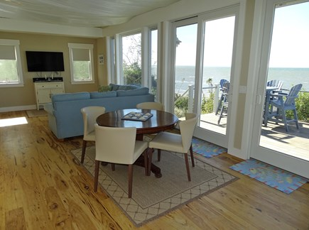Eastham Cape Cod vacation rental - Sitting area inside…for meals, games, puzzles