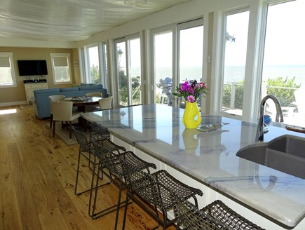 Eastham Cape Cod vacation rental - Main floor living area with sliders to deck
