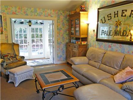 Brewster Cape Cod vacation rental - Den with French doors to patio