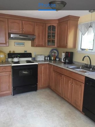 Falmouth, Teaticket Cape Cod vacation rental - Plenty of counter space Electric stove, full Fridge and Microwave