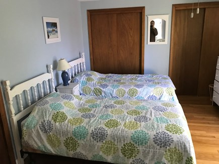 Falmouth, Teaticket Cape Cod vacation rental - Third bedroom with 4 Twin beds with sliding door to balcany