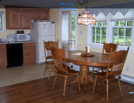Falmouth, Teaticket Cape Cod vacation rental - Sunny Kitchen leading to large deck with full range of appliances