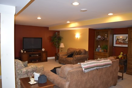 West Yarmouth Cape Cod vacation rental - Media area of enormous finished basement