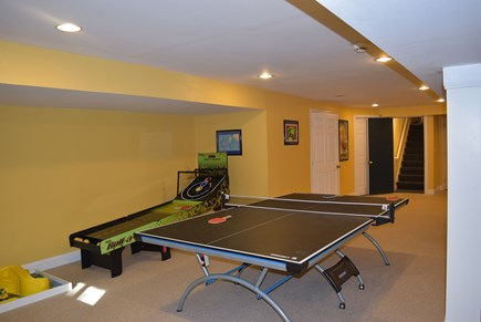 West Yarmouth Cape Cod vacation rental - Ping pong and skee ball in the basement