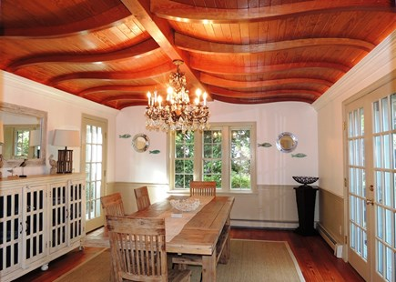 South Chatham Cape Cod vacation rental - Dining room with gorgeous ceiling