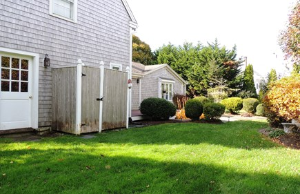 South Chatham Cape Cod vacation rental - Outdoor shower with changing area