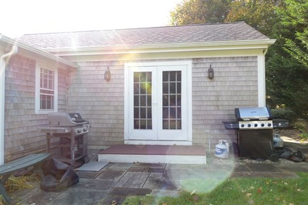 South Chatham Cape Cod vacation rental - Patio with 2 gas grilles