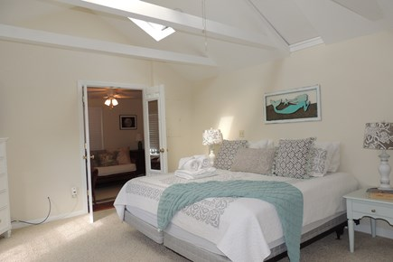 South Chatham Cape Cod vacation rental - First floor master with king & vaulted ceiling