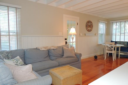 Harwich Port Cape Cod vacation rental - Living room leading to porch