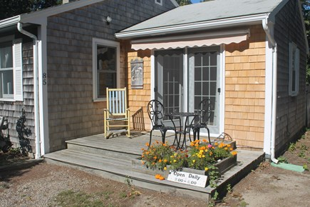 Eastham Cape Cod vacation rental - Sitting area on deck outside master bedroom
