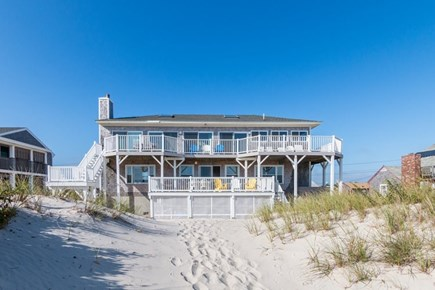 West Dennis Cape Cod vacation rental - View of the house from the beach