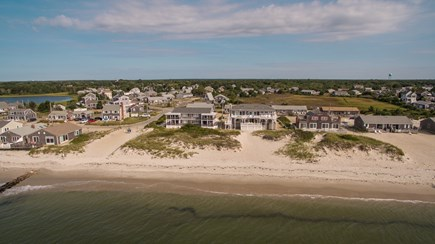 West Dennis Cape Cod vacation rental - Aerial view of the house