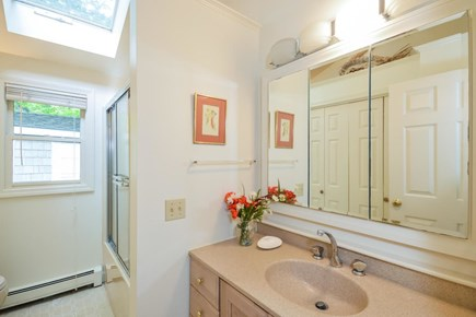Brewster Cape Cod vacation rental - Bathroom with tub/shower, large storage closet