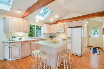 Brewster Cape Cod vacation rental - Kitchen with Island Seating-Great for Breakfast and Packing Lunch