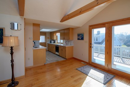 North Falmouth Cape Cod vacation rental - Slider to the deck. Easy access from kitchen for cookouts