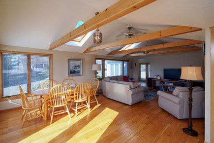 North Falmouth Cape Cod vacation rental - Dining area off of Kitchen and Living room. Sliders to the deck.