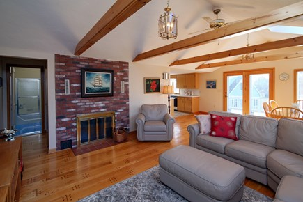North Falmouth Cape Cod vacation rental - Sunny & bright Living room with Hardwood floors.