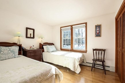 Falmouth, Old Silver Beach Cape Cod vacation rental - First guest bedroom with two twin beds.