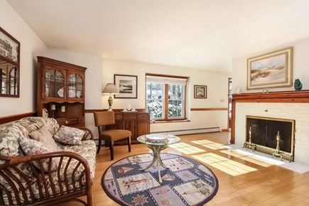 Falmouth, Old Silver Beach Cape Cod vacation rental - Comfortable Sitting area in front of fireplace