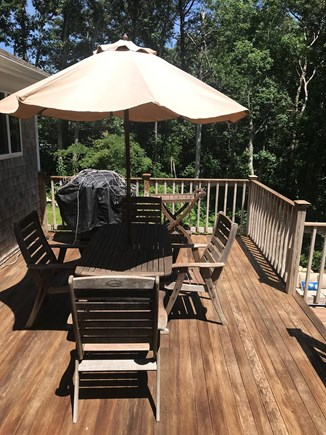 Falmouth, Old Silver Beach Cape Cod vacation rental - Large deck, perfect for grilling.  Overlooks new patio.