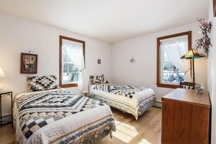 Falmouth, Old Silver Beach Cape Cod vacation rental - Second guest bedroom with two twin beds.