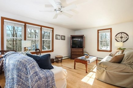 Falmouth, Old Silver Beach Cape Cod vacation rental - Large Living Room with new HD TV.