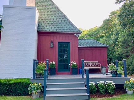 Sagamore Beach Sagamore Beach vacation rental - Charming entry with flowers and towering English twisted chimneys