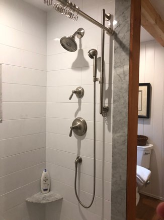 Sagamore Beach Sagamore Beach vacation rental - Luxury tile/marble shower bathroom with beams and timber framing