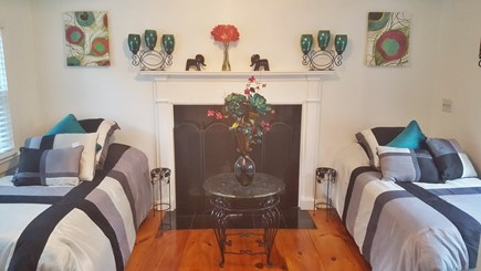 centerville Centerville vacation rental - Marble fireplace in the twin bedroom with French doors
