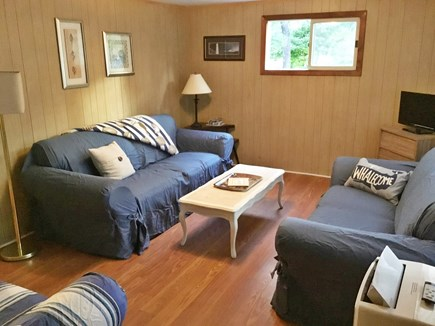 Eastham Cape Cod vacation rental - Living room with cable, wi-if and a/c